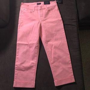 NYDJ cropped pink pants